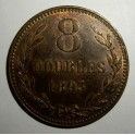Guernsey - 1893 - 8 Doubles EF Good lustre