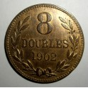 Guernsey - 1902H - 8 Doubles - EF Good lustre