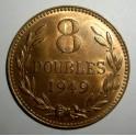 Guernsey - 1949H - 8 Doubles - UNC Good lustre