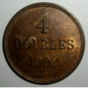 Guernsey - 1902H - 4 Doubles - EF Good lustre