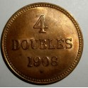 Guernsey - 1908H - 4 Doubles - AUNC - 26,000 minted!!