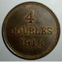Guernsey - 1918H - 4 Doubles - AUNC Lustre traces