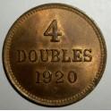 Guernsey - 1920H - 4 Doubles - UNC Good lustre