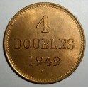 Guernsey - 1949H - 4 Doubles - BUNC - 19,000 minted!!