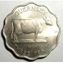 Guernsey - 1959 - 3 Pence - UNC Lustre