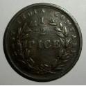 British India - 1853 - Half Pice - NVF