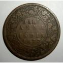 British India - 1877 - Half Anna - AF