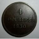 Guernsey - 1830 - 4 Doubles - NVF
