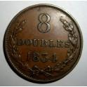 Guernsey - 1834 -  8 Doubles - GVF
