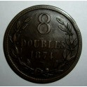 Guernsey - 1874 -  8 Doubles - VF