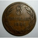 Guernsey - 1864 -  8 Doubles - NVF