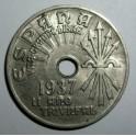 Spain - 1937 - 25 Centimos - EF