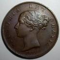 1853 Halfpenny - GEF