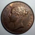1857 Halfpenny - GEF 20% Lustre