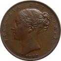 1847 Farthing - No serifs to B in BRITANNIAR - NEF (CG1847-VA-1-Ba)