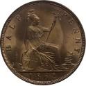 1862 Halfpenny - BUNC