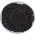 (1639 - 1643) Charles I Rose Farthing Type 3 (Everson 172a) Privy Mark - Mullet/Mullet (CGRose)