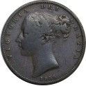 1855 Farthing - WW Raised - F (CG1855-VA-2-B)