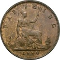1880 Farthing - Obverse 6, 3 berries, open 8 - GEF 10% Lustre (CGS Graded 65 - Finest known on CGS) (CG1880-VB-2B)