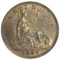 1895 Bun Head Farthing - Key Date - AUNC 40% Lustre (CG1895-VB-1A)
