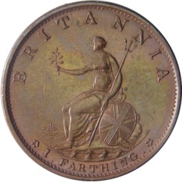 1799 Bronzed Copper Proof Farthing - EF (CG1799-G3-4D-B)