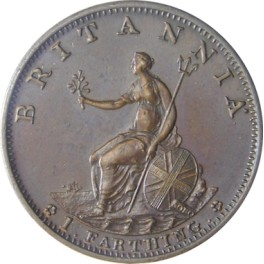 1799 Bronzed Copper Proof Farthing - EF (CG1799-G3-3A-B) Peck 1273