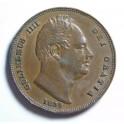 1834 Farthing - Incuse Saltire - VF+ (CG1834-W4-1A)
