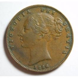 1856 Farthing - Scarce Date - VF (CG1856-VA-3-Ba) Detached shamrock