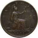 1875 Farthing - Large date - GVF (CG1875-VB-3B)