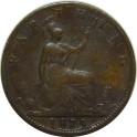 1875 Farthing - Large date, Low 5- NF (CG1875-VB-3Ba)