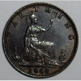 1868 Farthing - EF (CG1868-VB-1A)