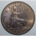 1860 Farthing - Beaded Border - UNC 40% Lustre (CG1860-VB-1A)