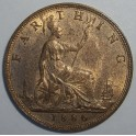 1886 Farthing - AUNC 80% Lustre (CG1886-VB-1A)