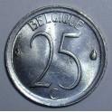 Belgium - 1972 - 25 Centimes - BUNC