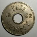 Fiji - 1952 - Penny VF+