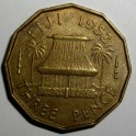 Fiji - 1952 - 3 Pence - GVF Lustre traces